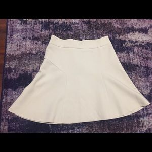 Express beige skirt with slight flair